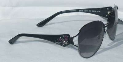 ANNA Sui Sunglasses AS 874 900 Dark Gun