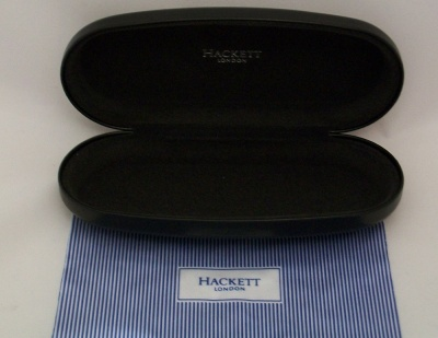 Hackett London Spectacle Case with Striped Cleaning Cloth